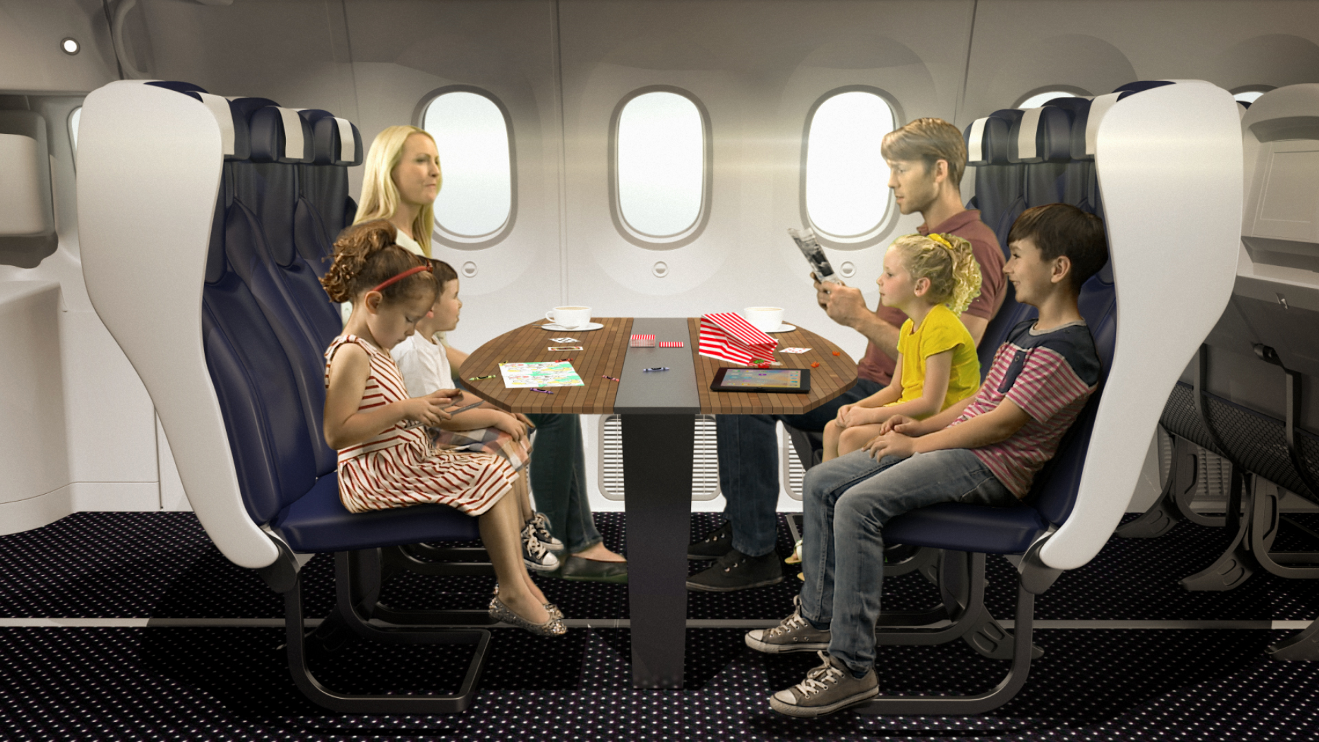 Super Thomson Airways Plans Table Seats For Flying Families Cnn Machost Co Dining Chair Design Ideas Machostcouk