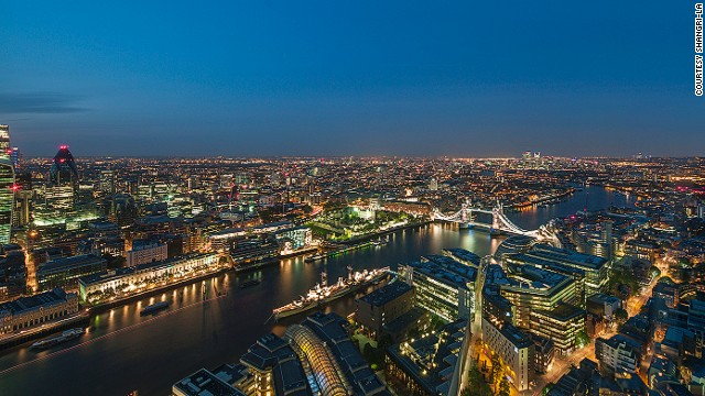 For London's most breathtaking views, you can't go wrong with the new Shangri-La at The Shard, in London's tallest building.