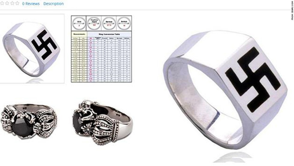 "Online shoppers were shocked to find a ring featuring a swastika design listed for sale on Sears' website in October. After consumers unleashed criticism via Twitter, and media outlets like Haaretz and Kveller publicized the gaffe, Sears pulled down the ad and expressed regret about its placement on the site. ""This item is a 3rd party Sears Marketplace product that does not abide with our guidelines and has been removed,"" the company <a href=""https://twitter.com/Sears/status/521728664606883843"" target=""_blank"">responded via Twitter</a>."
