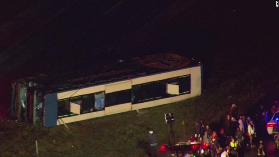 At least 26 hurt in Megabus crash near Indianapolis