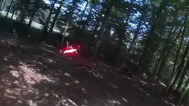 High-speed drone crash caught on tape