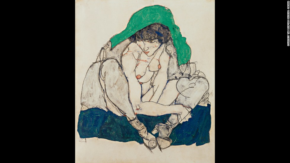 "<em><strong>Crouching Woman with Green Kerchief, 1914</strong></em><br /><br />Forty-three years before the first issue of <em>Playboy</em> hit newsstands, a 20-year-old art school dropout (and protégé of Art Nouveau painter Gustav Klimt) released some of the most shocking nudes of the century. <a href=""http://www.courtauld.ac.uk/gallery/exhibitions/2014/Schiele/index.shtml"" target=""_blank""><em>Egon Schiele: The Radical Nude</a></em>, an exhibition at London's Courtauld Gallery, looks at the Austrian Expressionist's technically exquisite and sexually explicit depictions of the human form.<br /><br />By <strong><a href=""http://www.twitter.com/allyssiaalleyne"" target=""_blank"">Allyssia Alleyne</strong></a>, for CNN"