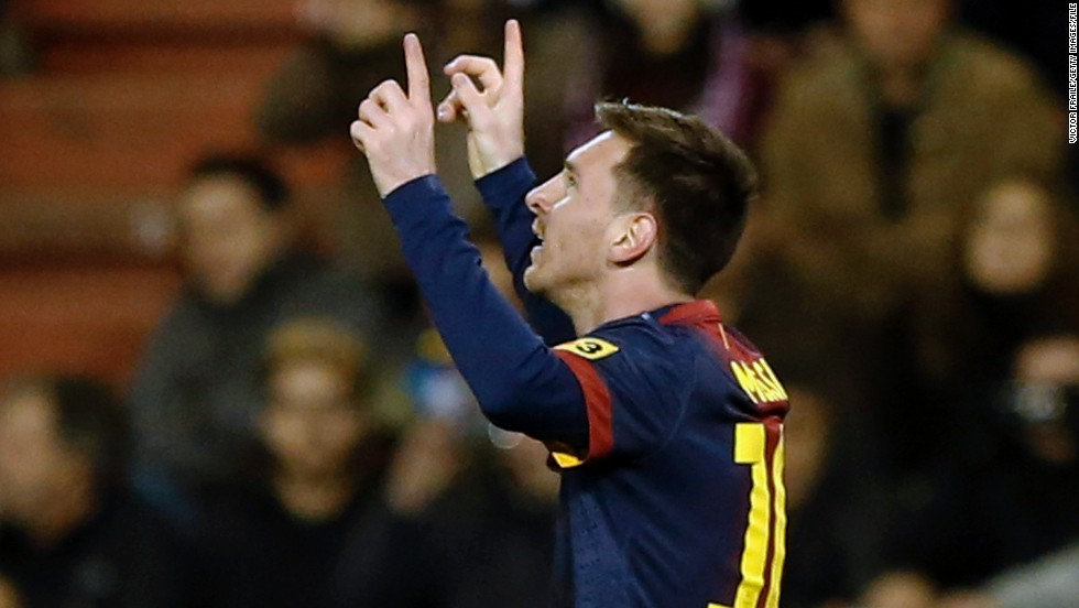 Messi's goalscoring exploits scaled new heights in 2012. A strike against Valladolid on December 22 was his 91st of the calendar year, breaking a record previously held by Germany's Gerd Muller.