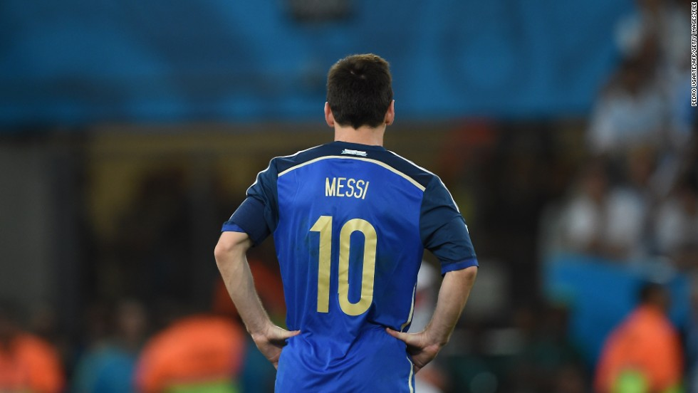 Messi led Argentina at the 2014 World Cup in Brazil earlier this year. As captain, he scored four as the South Americans advanced to a final meeting with Germany. However, even Messi couldn't guide Argentina to football's greatest prize, as Mario Gotze scored in extra-time to seal a win for the Germans.