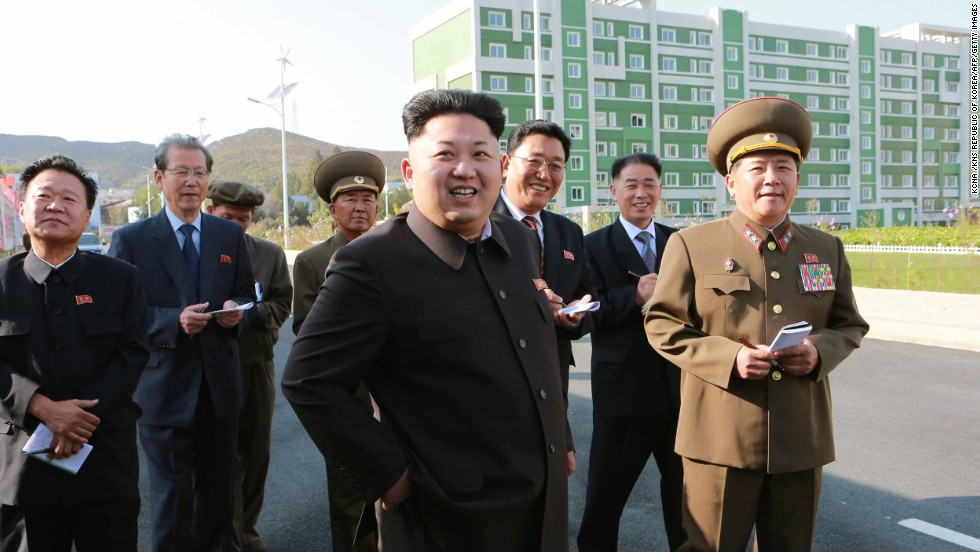 This undated photo, released Tuesday, October 14, by the KCNA, shows Kim inspecting a housing complex in Pyongyang, North Korea. International speculation about Kim went into overdrive after he failed to attend events on Friday, October 10, the 65th anniversary of the Workers' Party. He hadn't been seen in public since he reportedly attended a concert with his wife on September 3.