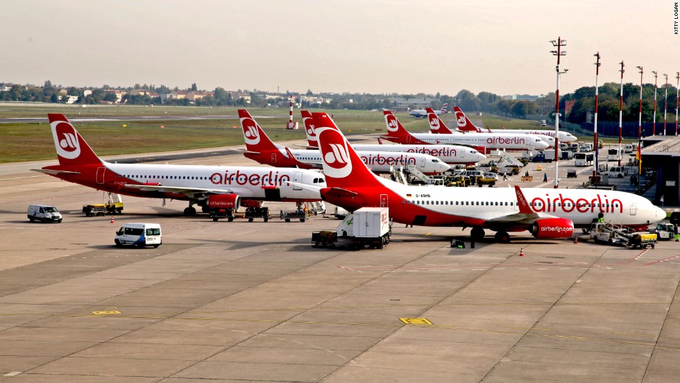Tegel-based Air Berlin says delays in opening Tegel's replacement, Berlin Brandenburg Airport, have hobbled its expansion plans.