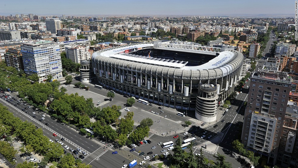 How the Bernabeu looks today...