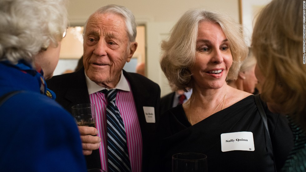 Bradlee and Quinn attend a November 2013 gathering of Washington insiders who were in the city during the presidency of John F. Kennedy.<br />