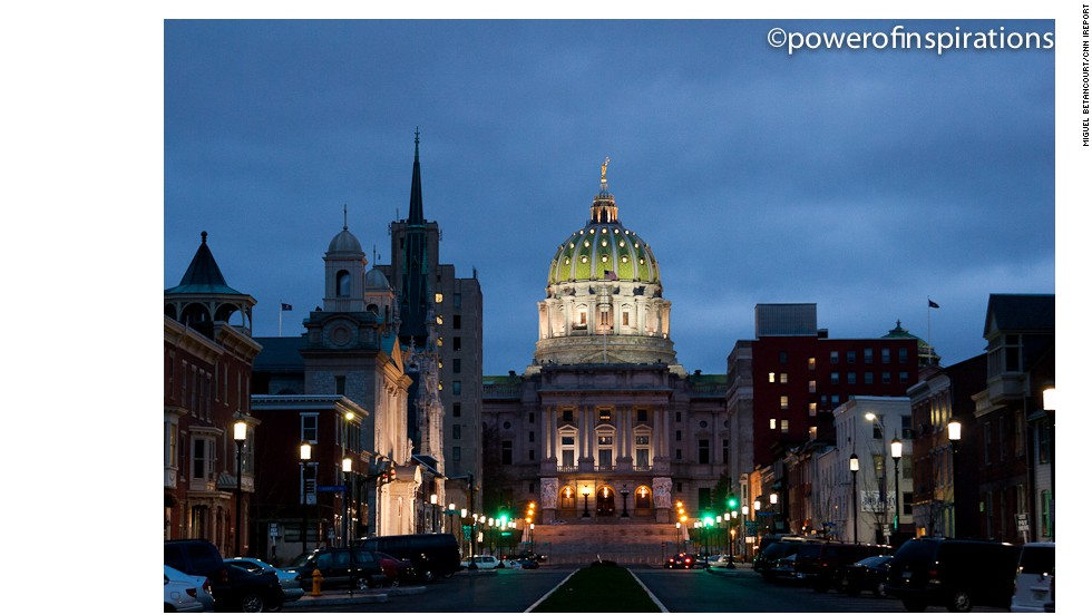 "Harrisburg, Pennsylvania might not be the first place that comes to mind when you think of tourist destinations, but it does boast the state's beautiful <a href=""http://ireport.cnn.com/docs/DOC-1063684"">capitol building</a>, seen here at night."