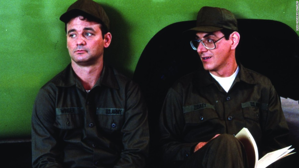 "With ""Stripes"" (1981), Murray -- here with Harold Ramis -- got his name above the title. In one scene, he leads his a platoon in a rousing version of ""Doo Wah Diddy Diddy."""