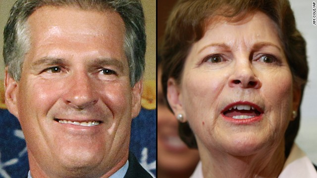 FILE - These 2014 file photos show Republican candidate for U.S. Senate Scott Brown, left, and incumbent Democrat U.S. Sen. Jeanne Shaheen, right, in Concord, N.H. They will face each other in the Nov. 4 general election. (AP Photo/Jim Cole, File)