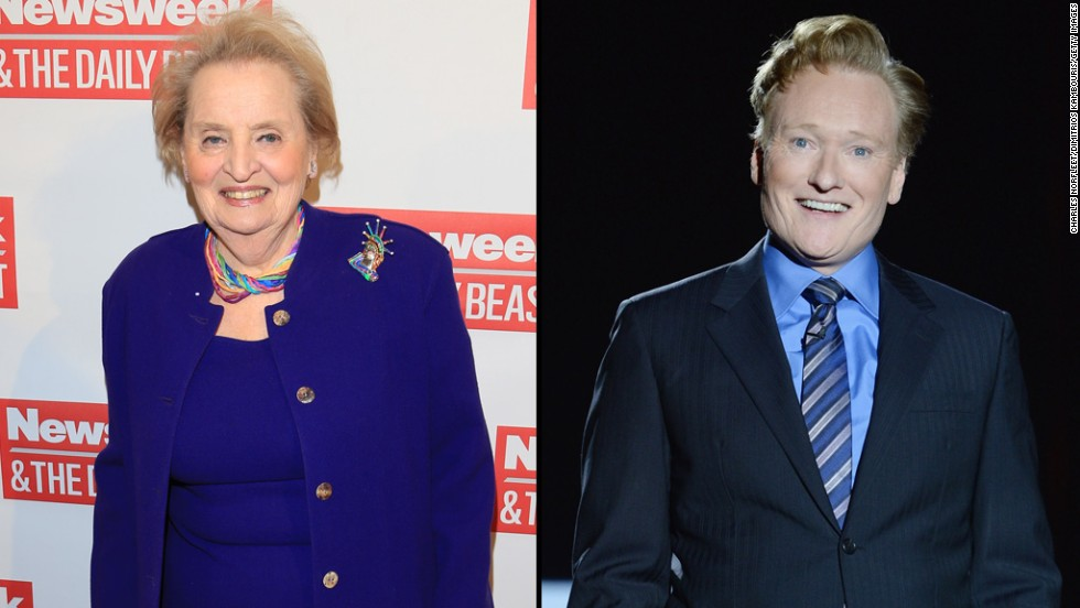 "Former Secretary of State Madeleine Albright did not let Conan O'Brien get away with<a href=""https://twitter.com/ConanOBrien/status/525375393097056256"" target=""_blank""> tweeting</a> that he was going as ""Slutty Madeleine Albright"" for Halloween. She came right back at him with <a href=""https://twitter.com/madeleine/status/525382849365815296"" target=""_blank"">a hilarious response.</a>"
