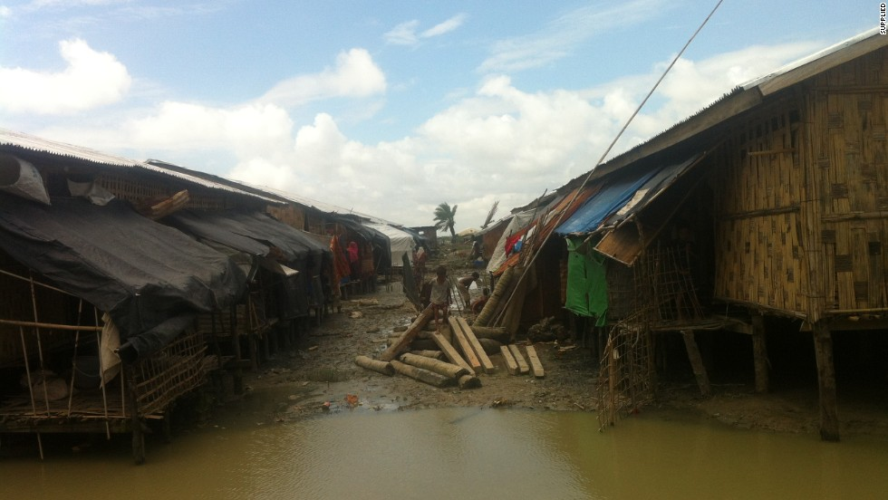 Regular flooding means medical clinics operate only at the entrance to Nget Chaung, says the humanitarian worker, putting treatment beyond the reach of those too ill to make their way through the muddy camp.