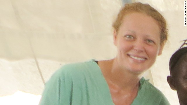 Kaci Hickox from her time in Sierra Leone.