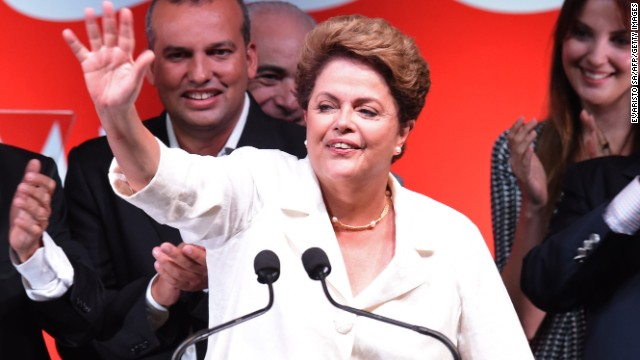 Dilma Rousseff wins re-election in Brazil