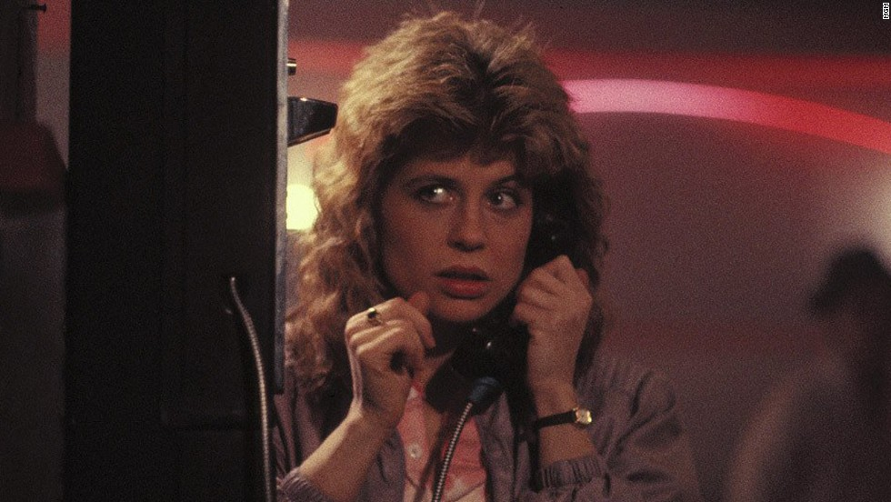 Linda Hamilton played waitress Sarah Connor, who is relentlessly hunted by Schwarzenegger's cyborg assassin.
