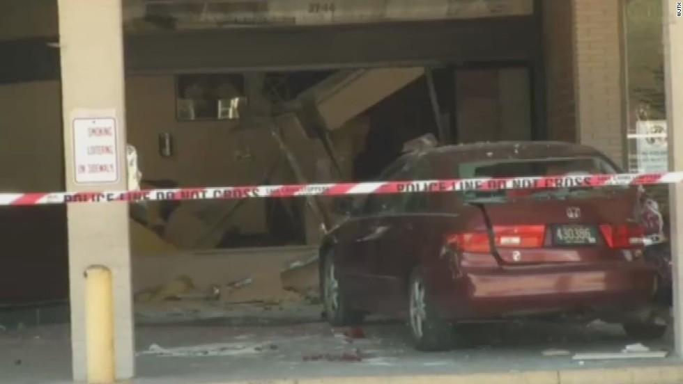 Woman crashes car; tried to donate plasma