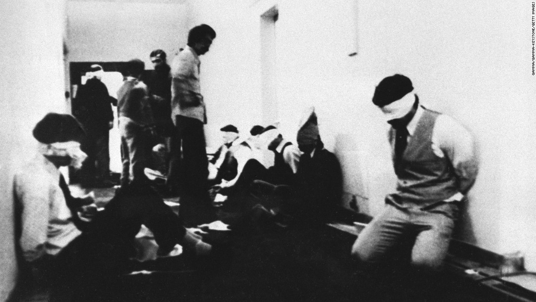 After storming the embassy, a group of students took 90 people hostage, including 66 Americans. They demanded the extradition of the Shah from the United States, where the ousted ruler was receiving cancer treatment. Ayatollah Khomeini issued a statement of support for the students' actions.