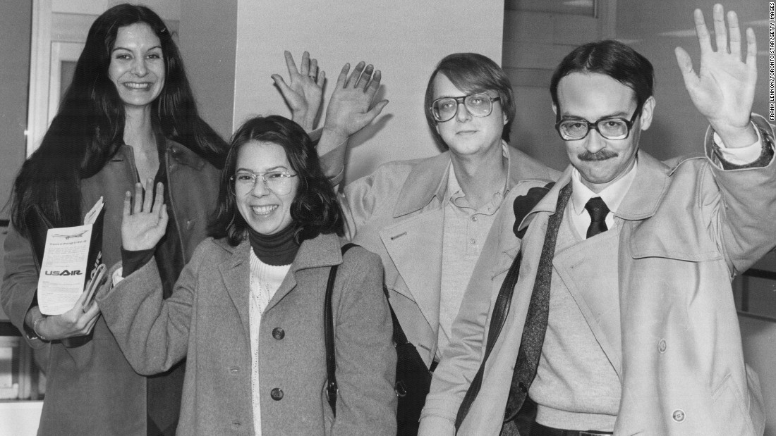 Six American Embassy employees avoided capture by hiding in the homes of Canadian Embassy officers. Aided by the Canadian government and the CIA, they fled Iran on January 28, 1980. From left, Kathleen Stafford, Cora Lijek, Mark Lijek and Joseph Stafford are seen during a visit to Toronto in February 1980.