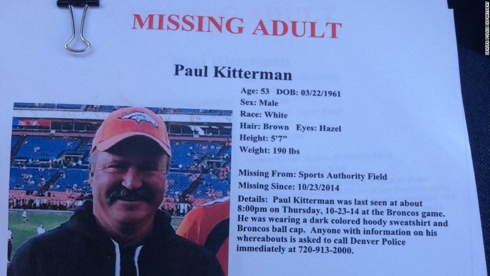 Denver Broncos fan missing for five days simply went for a walk, police say