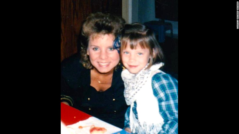 Maynard at age 4 with her mom, Debbie.