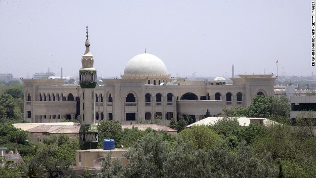 A picture taken on June 27, 2014, shows the Presidential Palace under construction in the Sudanese capital, Khartoum, as the country marks twenty-five years since Field Marshal Omar al-Bashir took power.