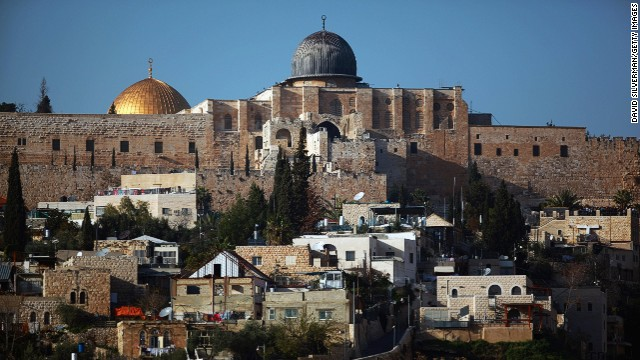 Al-Aqsa mosque and the golden Dome of the Rock Islamic shrine