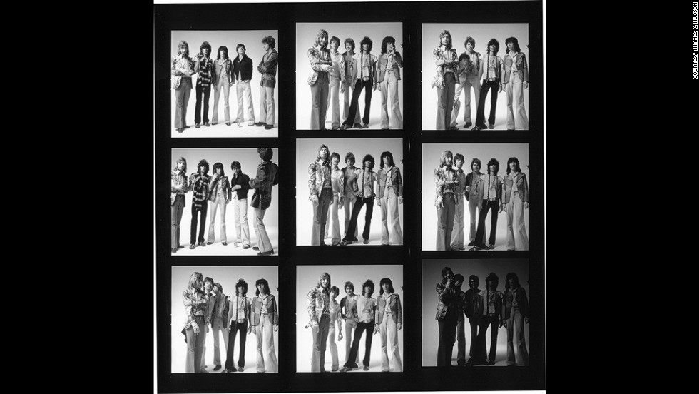 "These pictures of the Rolling Stones were taken at Bow Street Studios in London, in 1973. ""Keith Richards opened the door naked to the waist and rather the worse for wear,"" Po recalls. ""He was a beautiful young man, he looked like a gypsy hero. The band all got on incredibly well and would do whatever I wanted, even though they had an untouchable reputation."""