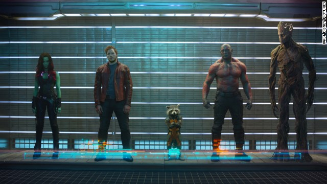 """Marvel's """"Guardians of the Galaxy"""" was the top-grossing film domestically of 2014, even beating the third installment of """"The Hunger Games."""""""