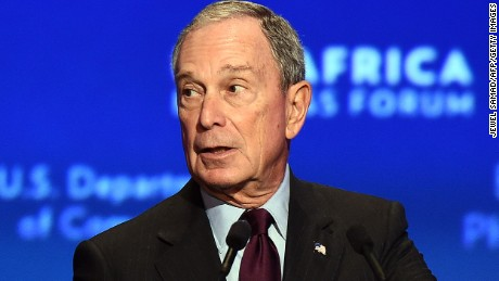 Former New York mayor Michael R. Bloomberg  speaks during US-Africa Business Forum on the sideline of the US-Africa Leaders Summit in Washington, DC, on August 5, 2014. US companies are planning $14 billion worth of investments in Africa, a White House official said Tuesday as Washington seeks to strengthen commercial ties during the historic US-Africa Leaders Summit. With the United States seeking to counter the Chinese and European trade dominance in Africa, a White House official said the investments will span a range of industries, including construction, clean energy, banking, information technology, and others.  AFP PHOTO/Jewel Samad        (Photo credit should read JEWEL SAMAD/AFP/Getty Images)