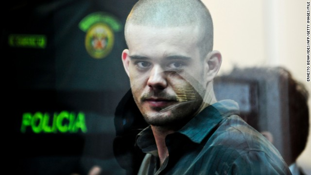 File picture dated January 6, 2012 of Dutch national Joran Van der Sloot during his preliminary hearing in court in the Lurigancho prison in Lima. The Peruvian Supreme Court has approved the extradition of Joran van der Sloot to the U.S. on charges of extorting money from the family of missing Alabama teen Natalee Holloway but it will not take place until he serves out his 28-year sentence for the 2010 murder of 21-year-old Stephany Flores.  AFP PHOTO/ Ernesto Benavides        (Photo credit should read ERNESTO BENAVIDES/AFP/Getty Images)