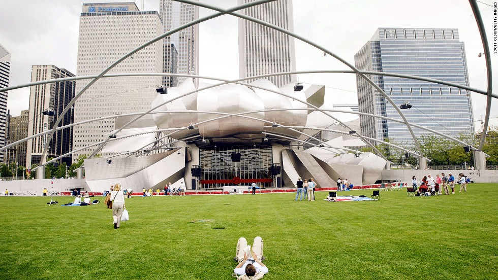 Chicago is home to some of America's most iconic buildings. The Pritzker Pavilion, designed by Frank Gehry in 2004, provides a precedent for MAD's futuristic take.