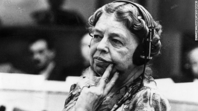 Former first lady Eleanor Roosevelt circa 1946.