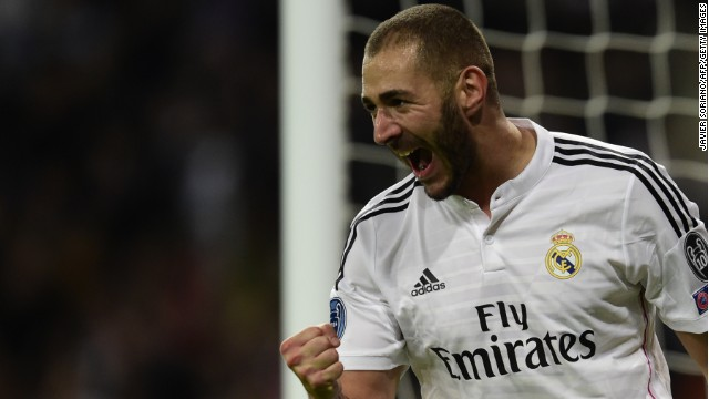 Benzema plays his football at Real Madrid
