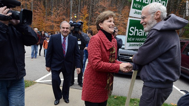MADBURY, NH - NOVEMBER 4: U.S. Sen. Jeanne Shaheen (D-NH) prepares to vote at Madbury Town Hall November 4, 2014 in Madbury, New Hampshire. Incumbent Shaheen is in a tight race with former Massachusetts U.S. Senator Scott Brown. (Photo by Darren McCollester/Getty Images)