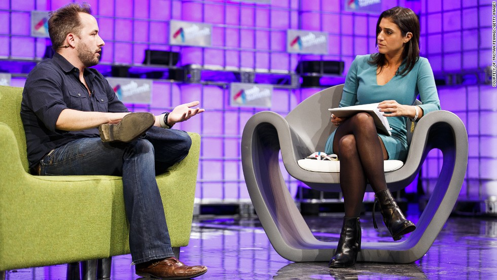 Drew Houston, Founder and CEO of Dropbox, in conversation with Laurie Segall from CNN Money, on the center stage at Web Summit. Houston discussed Dropbox's new partnership with Microsoft and the future of file-sharing and data storage.