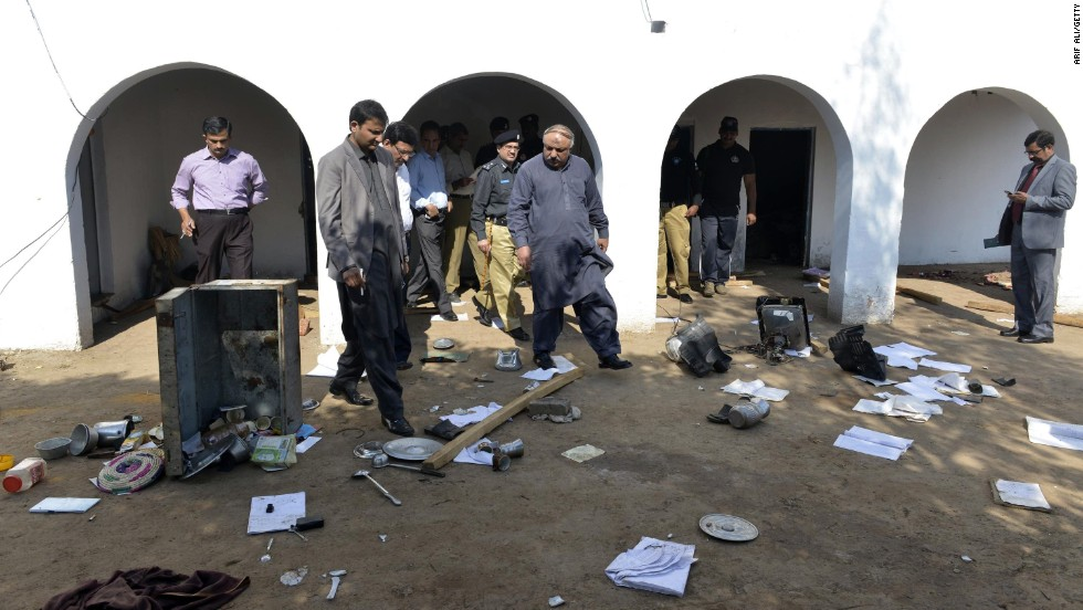 Pakistani members of a committee investigate the killing. The accusation the couple had desecrated the Quran was announced via a mosque loudspeaker, the HRCP said.