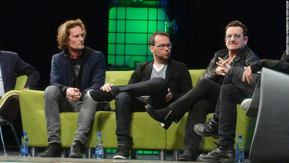 "Also speaking at Web Summit was Eric Wahlforss, co-founder of streaming service Soundcloud (left). ""We care a lot about copyrights and we have automatic filters that can block content on behalf of copyright holders,"" he said. ""We want to go to a billion monthly listeners, and welcoming major labels is a key point of the journey there."""