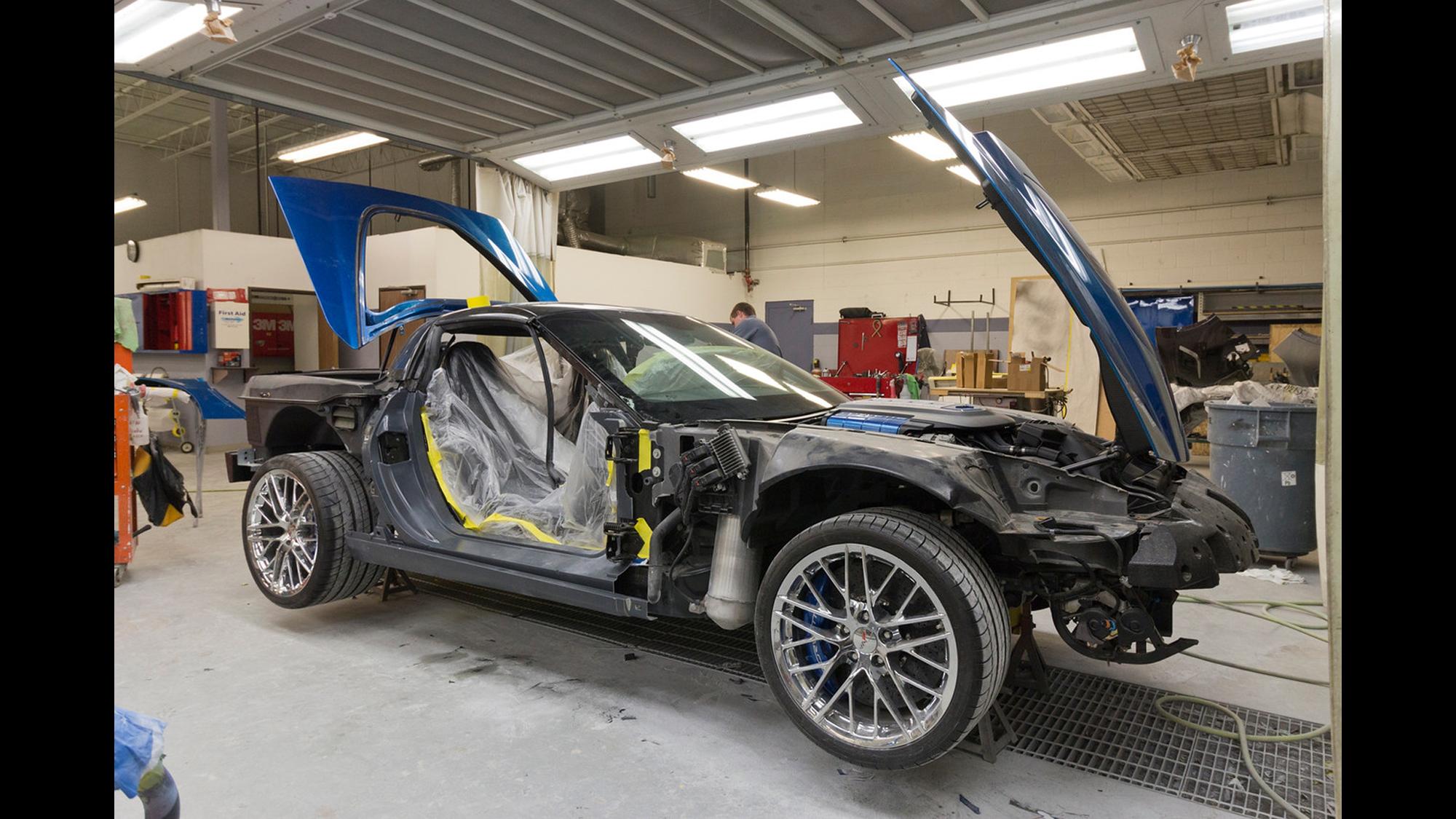 First restored Corvette damaged by museum sinkhole   CNN Travel