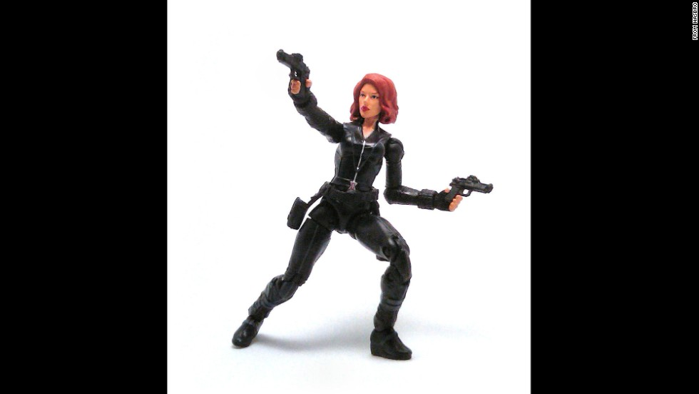 "Marvel Comics' Black Widow is the alter ego of the Russian femme fatale Natalia ""Natasha"" Romanova. Since she's a ballerina when she's not working as a secret operative, her black unitard comes in handy for the character's acrobatic moves."
