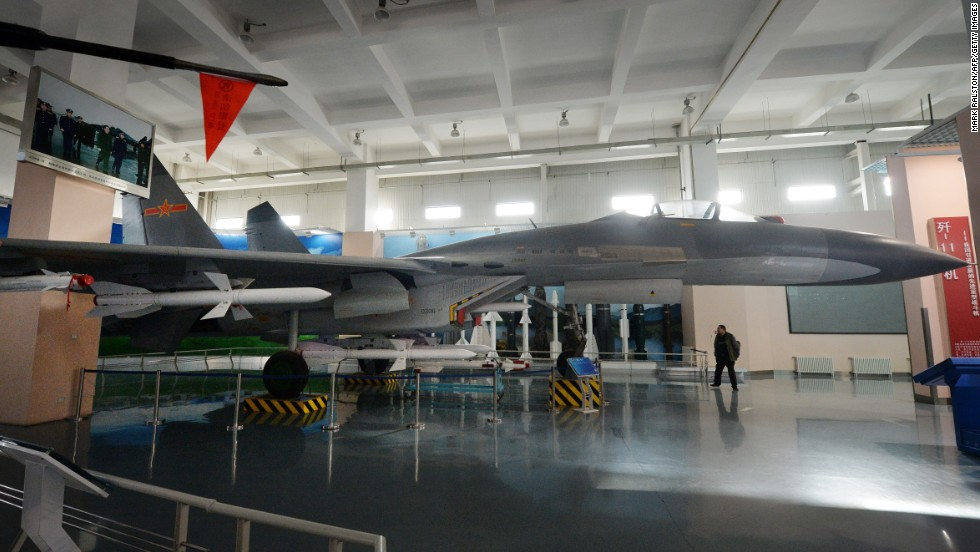 China builds fleets of fighters and bombers almost exclusively for the People's Liberation Army and with very few foreign clients. Here, a Chinese-made Shenyang fighter jet is on display at the People's Liberation Army Aviation Museum in Beijing on December 4, 2013.