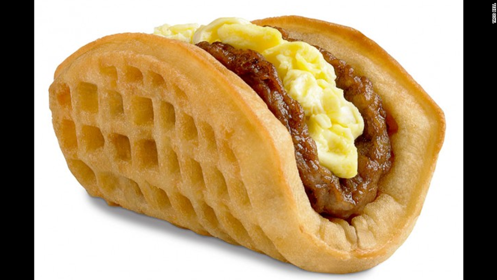 "Taco Bell debuted its breakfast menu in 2014 with its marquee item, the Waffle Taco. It's pretty much what it sounds like if you consider taco shells and waffles interchangeable vehicles for eggs and breakfast meats. As one headline summed it up, ""<a href=""http://www.slate.com/blogs/moneybox/2014/09/05/taco_bell_breakfast_menu_the_biscuit_taco_joins_the_waffle_taco.html"" target=""_blank"">Taco Bell Tacos Keep Getting Less and Less Taco-Like</a>."""