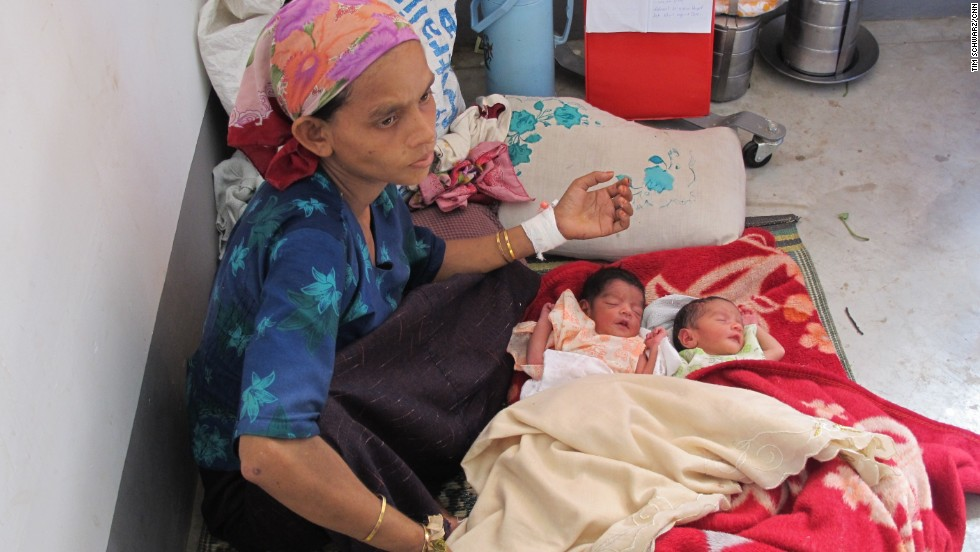 This mother did not know she was having twins until they were born just days ago. This health clinic has a midwife but no regular doctor. In a real medical emergency, an ambulance would have to take a patient to the nearest hospital, but most Rohingya fear that Buddhist medical personnel would not treat them.