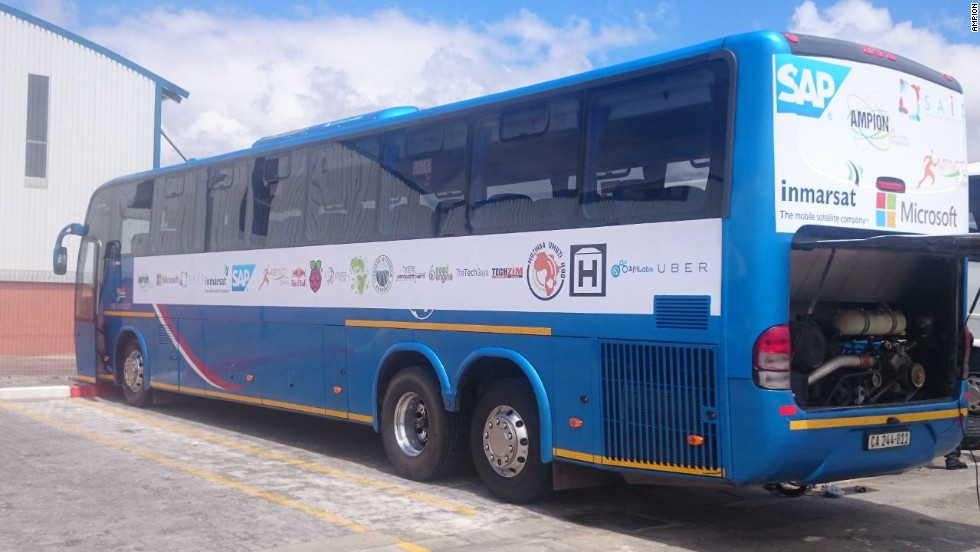 The Ampion Venture Bus is touring Africa to connect entrepreneurs with investors and help solve the continent's problems through tech.