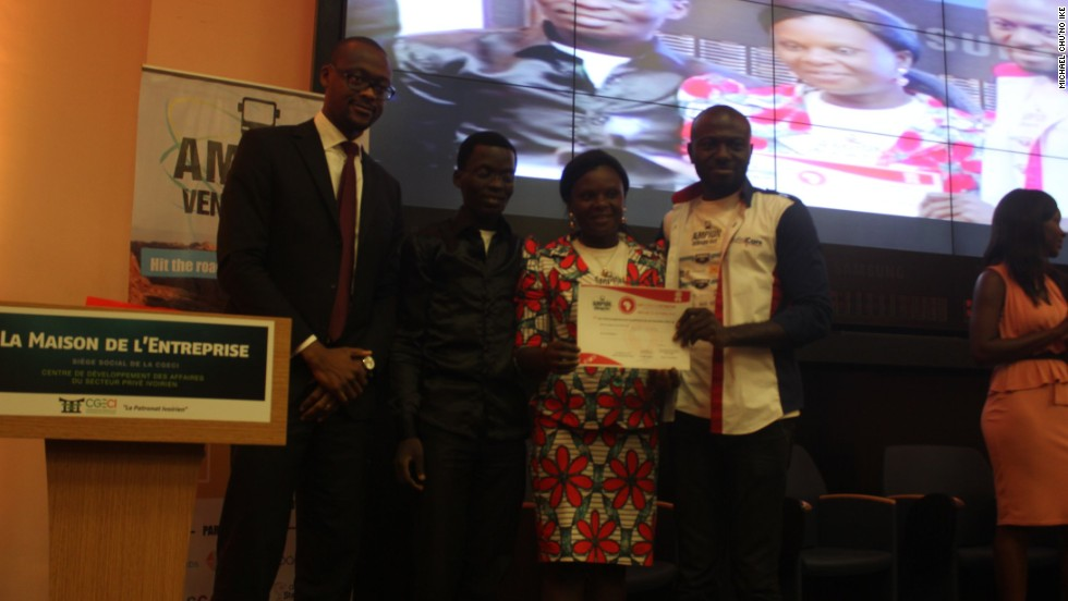 Ike's HaltEbola idea was awarded first prize at the West African Venture Bus competition.