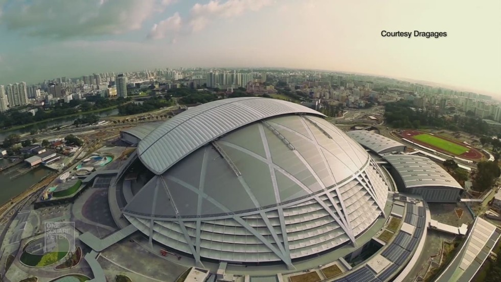 Singapore's billion-dollar sport stadium wows architects, but can it get its turf to grow?