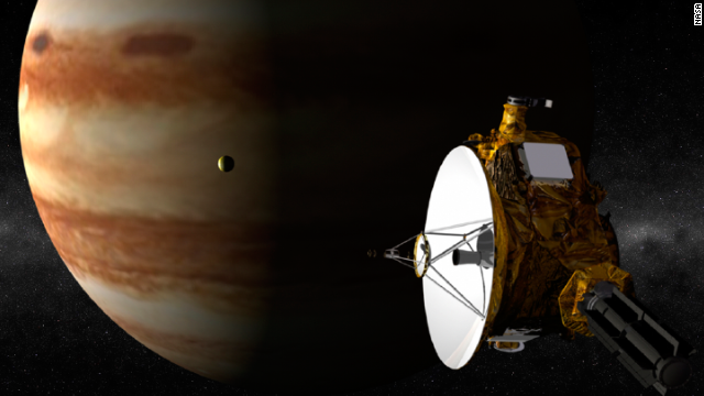 "No probe has ever gone all the way to Pluto, but New Horizons aims to change that. The craft is set to arrive at the solar system's tiny, former planet in June 2015. Launched in 2006, the craft goes into ""hibernation"" for long periods of time, before being brought to life for tests. It has already practiced the routine it will use to give us our closest look ever at Pluto. The image here pictures when New Horizons sailed past Jupiter."