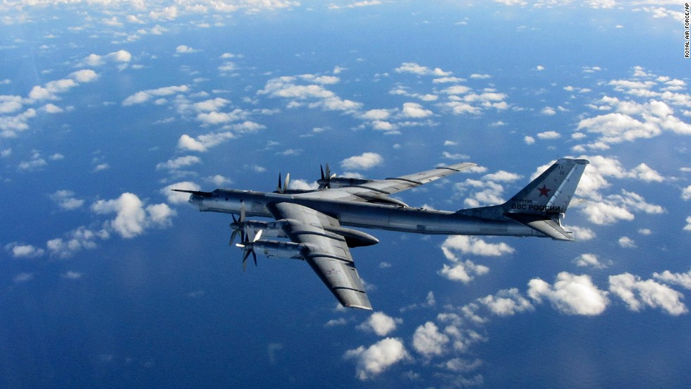 Russian bombers fly near California