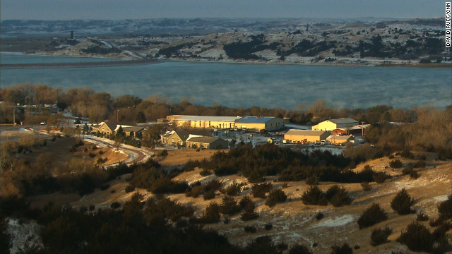 A view of the campus of St. Joseph's Indian School, on the banks of the Missouri River.