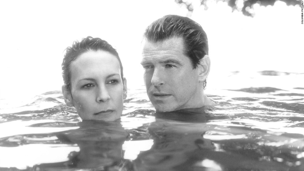"Pierce Brosnan (seen here with Jamie Lee Curtis in ""The Tailor of Panama"") was the pick for 2001."
